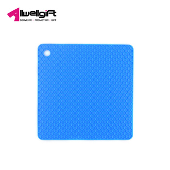 Ultra-thick insulating  square honeycomb heat-resistant non-slip anti-hot pot table silicone mat pad