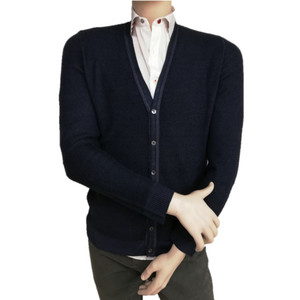 Casual cardigan with buttons for men in merino wool made in italy