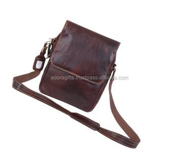 9c7a3e8b4012e Men's Women's Vintage Leather Shoulder Bag Sling Chest Bags Crossbody  Hiking Satchel Cool Small Backpack Messenger
