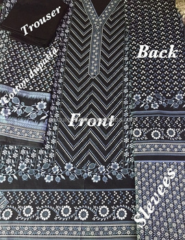 Top Rotary Printed Ajrak Designs Pakistani Cultural Ladies Shalwar  DK61