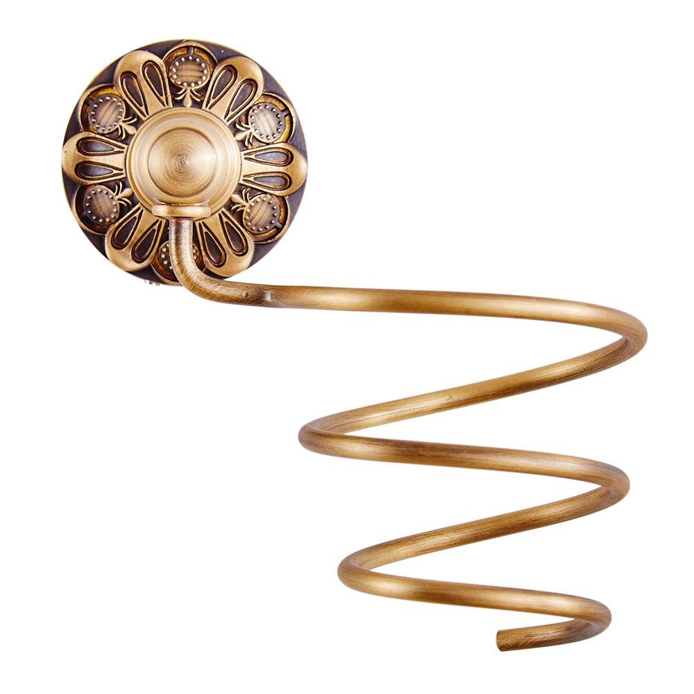 Leyden Antique Brass Hair Dryer Holder Shelf Hairdryer Organizer Hairdryer Storage Hairdryer Holder Bathroom Accessories