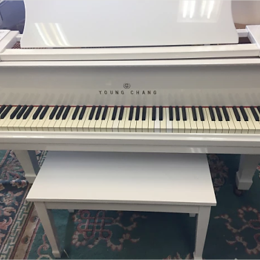 Nieuwe 1989 Jonge Chang White Gloss Baby Grand Piano!