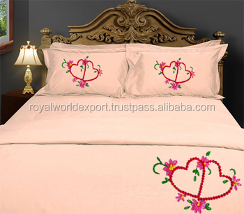 India China Wholesale High Quality Bedsheets Embroidered/embroidery Design Bed  Sheet/bedding Sets Printed