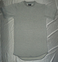 100%cotton french terry simple round bottom t shirt