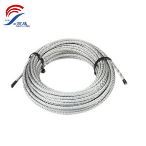wholesale high quality galvanized steel wire cable manufacturer with eye loop