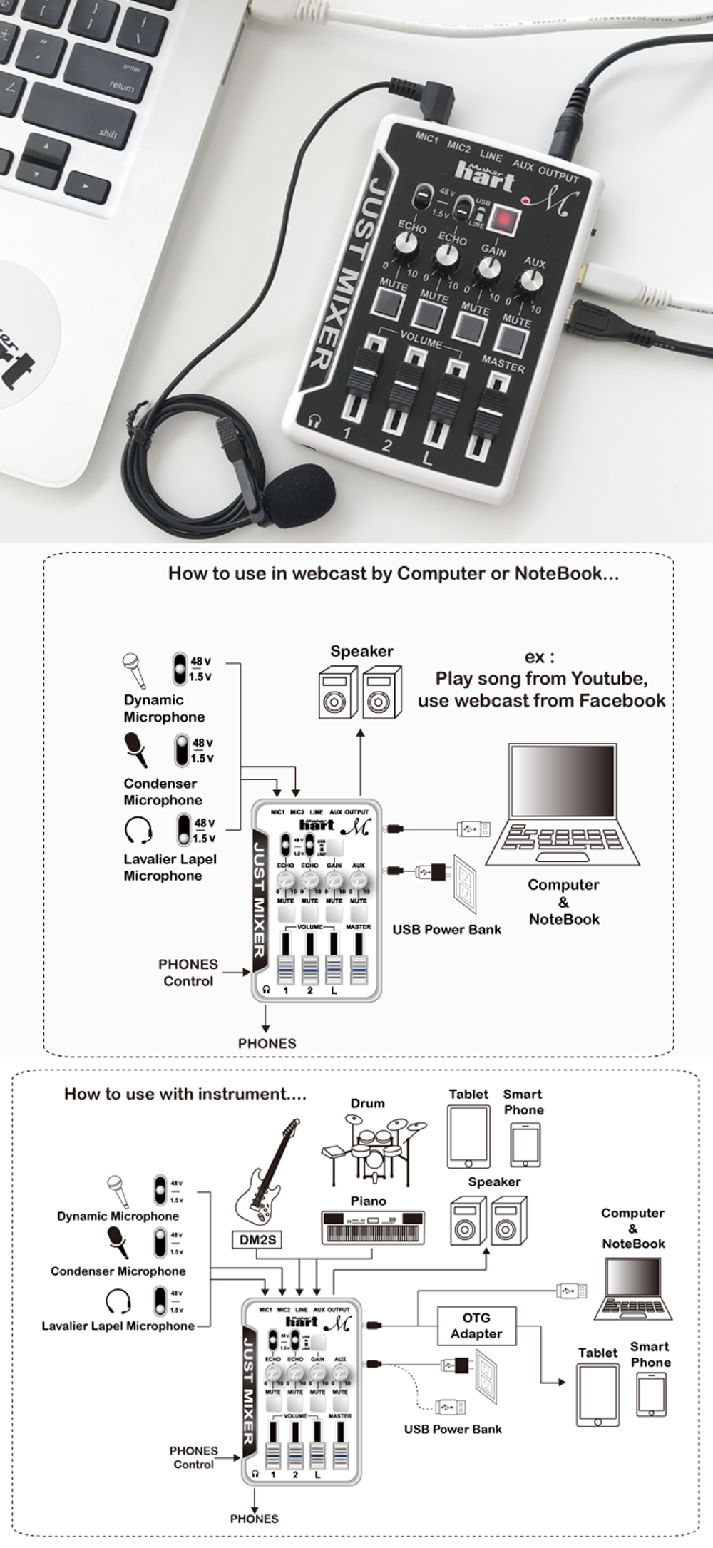 USB audio mixer