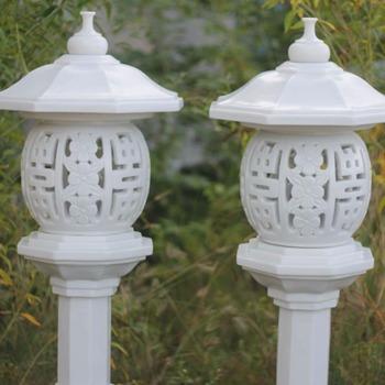 Oriental Lantern Marble Statue Garden Sculpture Ornaments Bonsai An Zen