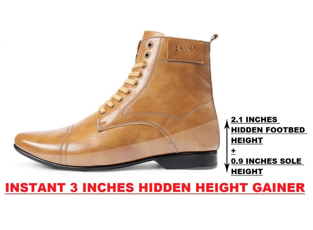 Height Increasing Elevator Men`s Boots