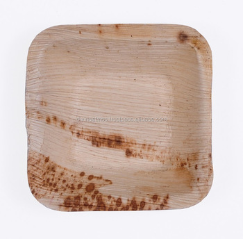 Disposable Areca Palm Leaf Plates Biodegradable Tableware Eco