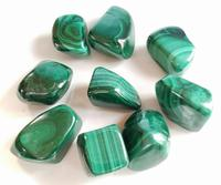 malachite tumbled stones mixed