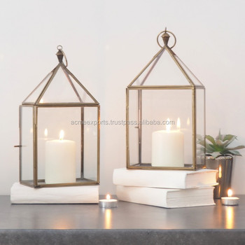 Hot selling Domb design large metal garden candle lantern