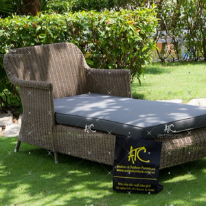 Latest Modern Design poly pe rattan sun loungers garden outdoor furniture