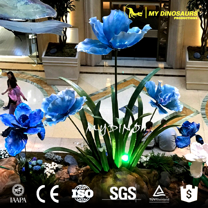 My Dino-AP030 Water Park Realistic Animatronic Fiberglass Flower With Face