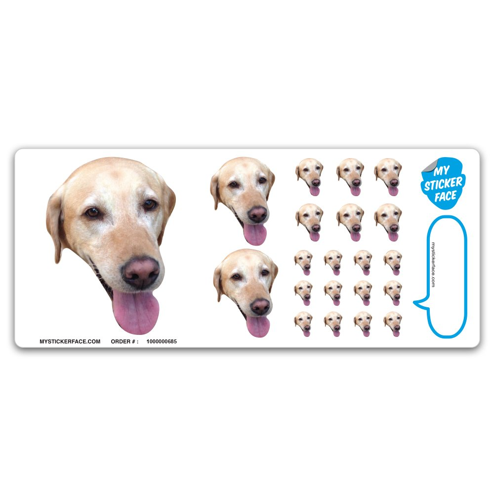 Get quotations · custom photo stickers face stickers stickers of your dog sampler sheet gift