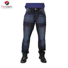 BULK DARK BLUE COOL WEARABLE FIGUUR <span class=keywords><strong>JEANS</strong></span> VOOR MANNEN