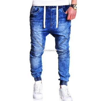 67a8fd22dd5 Men s Stretchy Ripped Skinny Biker Jeans Destroyed Frayed Slim Fit Denim  Pants