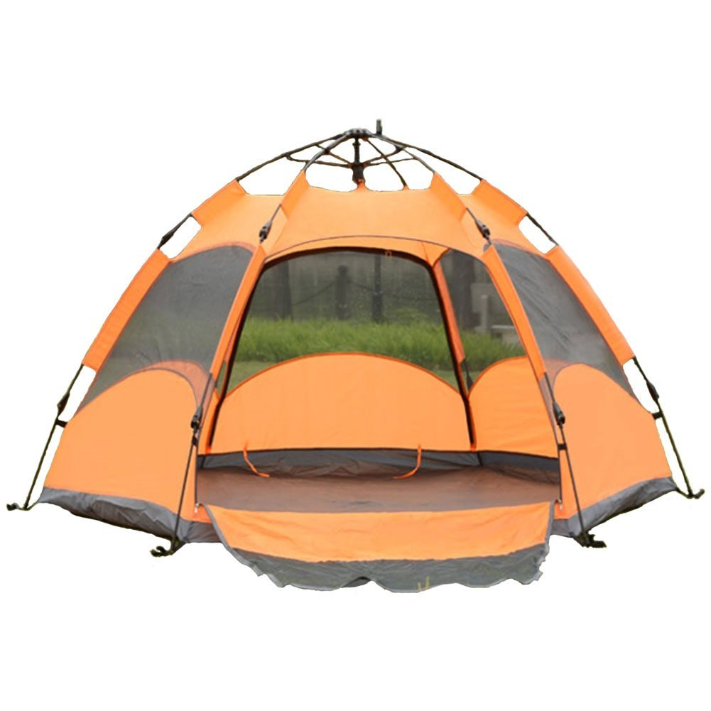 """BIGFUN, One-Touch Screen Dome Style Tent for 4-5 people Family Tent Orange (94.5"""" x 94.5"""" x 55.1"""")"""