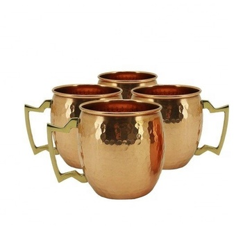Copper Coffee Drinking Mugs Set Of 4