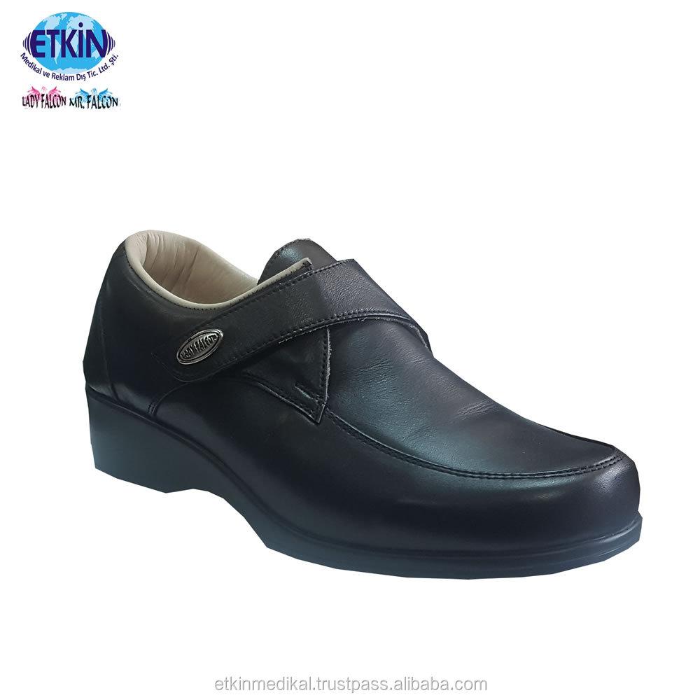 Genuine Leather Diabetic Shoes Women Best Turkey Footwear For