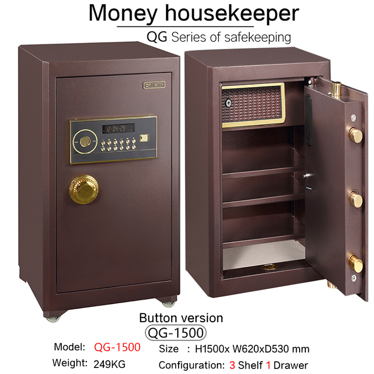 office metal strong biometric fingerprint jewelry mini cash electronic password small gun safe box