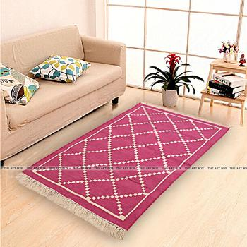 Area Rug On Carpet Living Room Throughout Cotton Panja Durries Carpet For Living Room Bedroom Area Rugs Buy