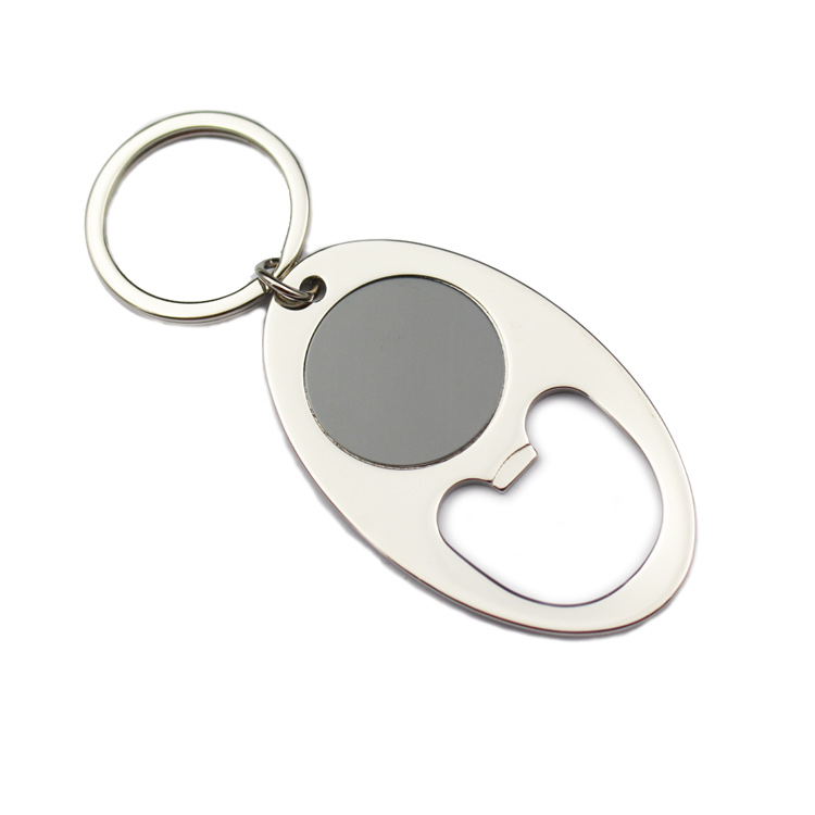 Blue Moon Beer White Metal Bottle /& Can Opener Key Chain New