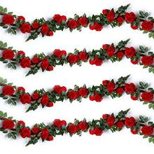 Hot selling Outdoor Decor Festival Ornaments Artificial Flower Garland