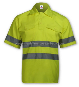 Safety work shirt Hi-Vis reflective for men workwear