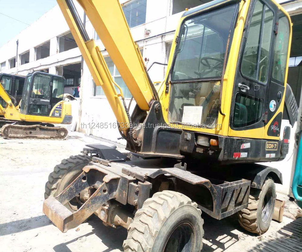 used hyundai 60w-7 excavator in lowest price with high quality