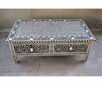 Black Color Two Drawers Bed Side Bone Inlay Coffee Table Furniture Buy Bright Colored Coffee Table Furniture Coffee Table Furniture Furniture