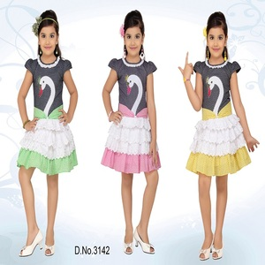 New pattern girls frock design