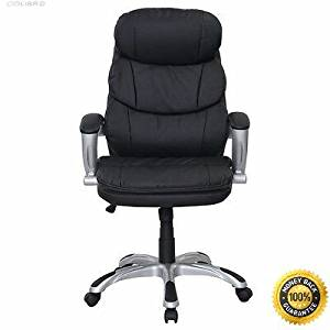COLIBROX-- New PU Leather High Back Desk Office Chair Executive Ergonomic Computer Task Black PU Leather High Back Office Chair Executive Ergonomic Computer Desk Task