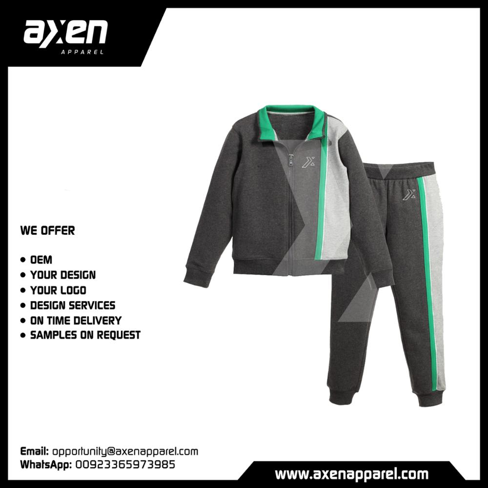 Axen Tracksuit Kids New 2018 Polyester Cheap Fashion High Quality OEM No Moq Sample Jogging Logo Custom Design Label Sportwear
