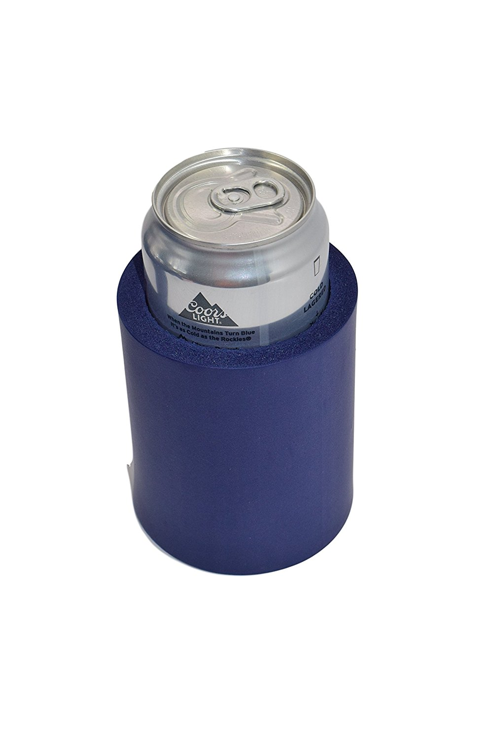 """QualityPerfection 2 Extra Thick Blank Can Coolers ,Strong Indestructible """"Old School"""" Foam Can Insulators Beer Can Coolers Economy Bulk Perfect For Good 4 Events,Parties (2, Navy Blue)"""