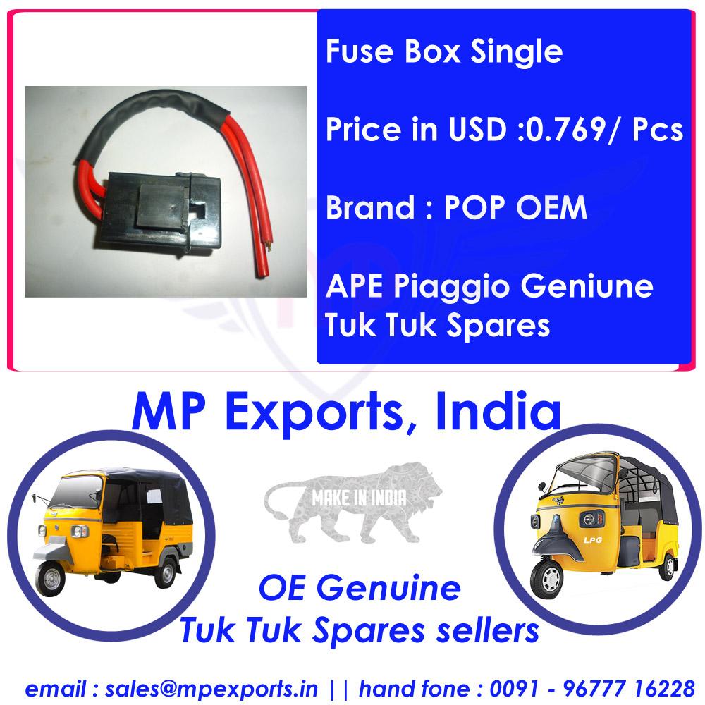 Ape Tuk Spares Fuse Box Single Buy Piaggio Part Parts 70