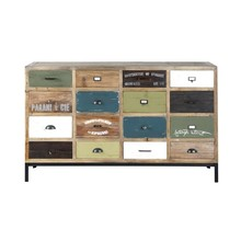 Vivid Solid Wood Modern Sideboard Buffet With Drawers Dresser
