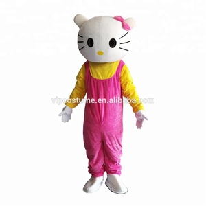Hallo Kitty Mascot Costume Adults Cosplay Fancy Party Dress Halloween Costumes