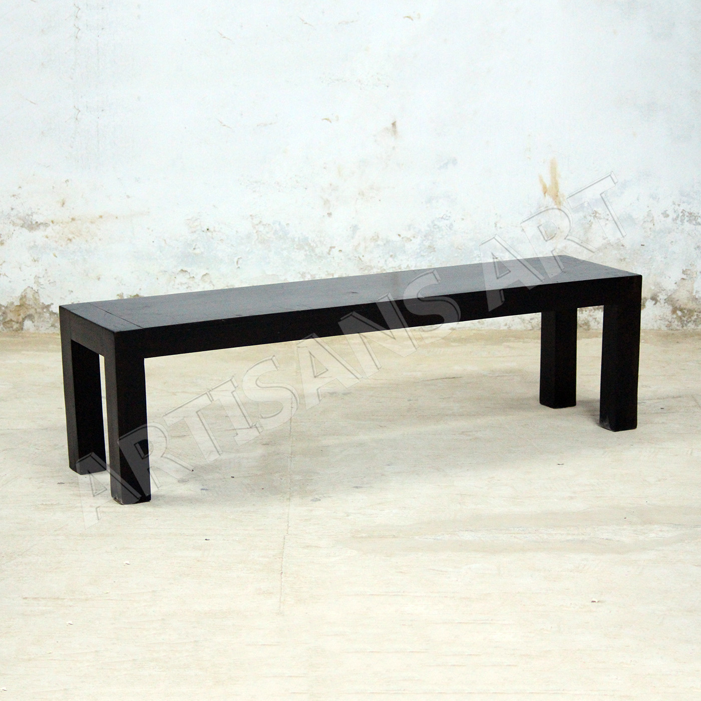 Modern Solid Sheesham Wood Patio Bench Mid Centuary Wooden Bench Contemporary Furniture Supplier