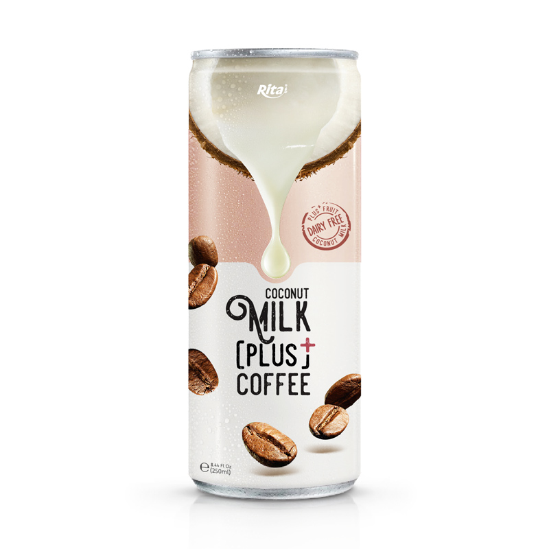 Coconut Milk Drink in 250ml sleek Aluminum can coconut milk fruit coconut milk coffee