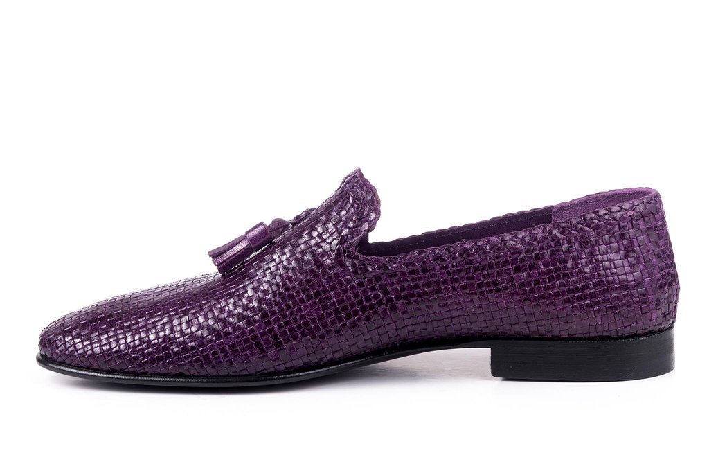 purple 2018 shoes Woven Loafers color MEN sheepskin luxury Italy 0fwcdq