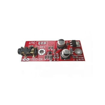 Taidacent Dc3 6v-12v/3 V Pin Electret Microphone Mic Preamp Board Khuếch  Đại Mô-đun Max9812 Electret Microphone Khuếch Đại - Buy