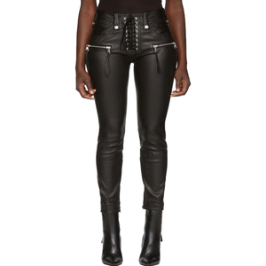PIP-235 Hot Sale Factory Price Sexy Women Skinny Tight Black Leather Pants Trouser