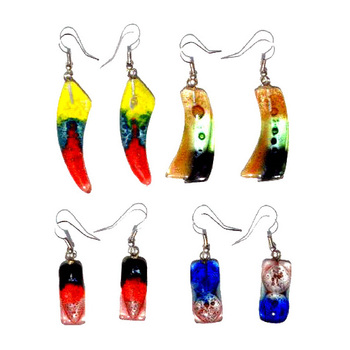 4df9f1efed4c Dangle Drop Handmade Art Glass Earrings Sea Color Handcrafted Artisan  Costume Fashion Jewelry Wholesale Peru Supply On Sale - Buy Glass ...