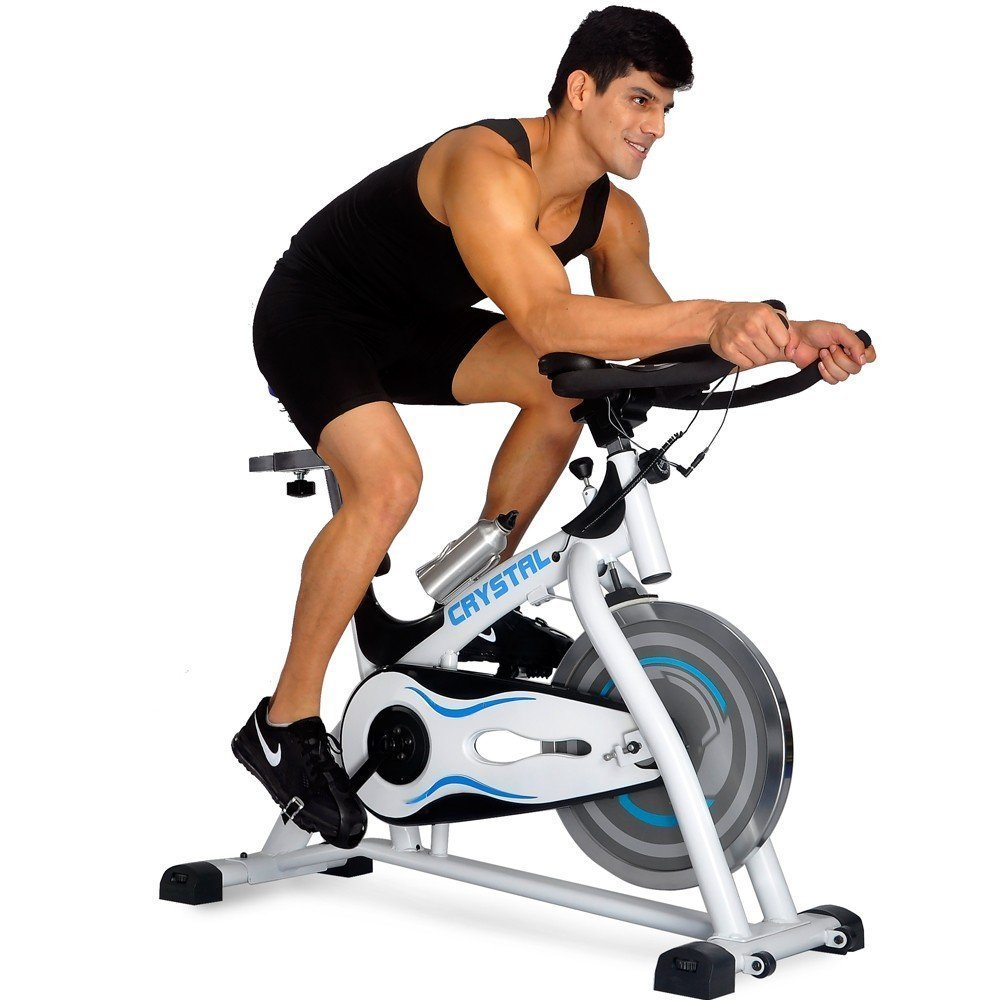 74bd85df56e Get Quotations · Crystal SJ-32411Home Use Exercise Bike Spin Bike Spinning Bike  Fitness Equipment White