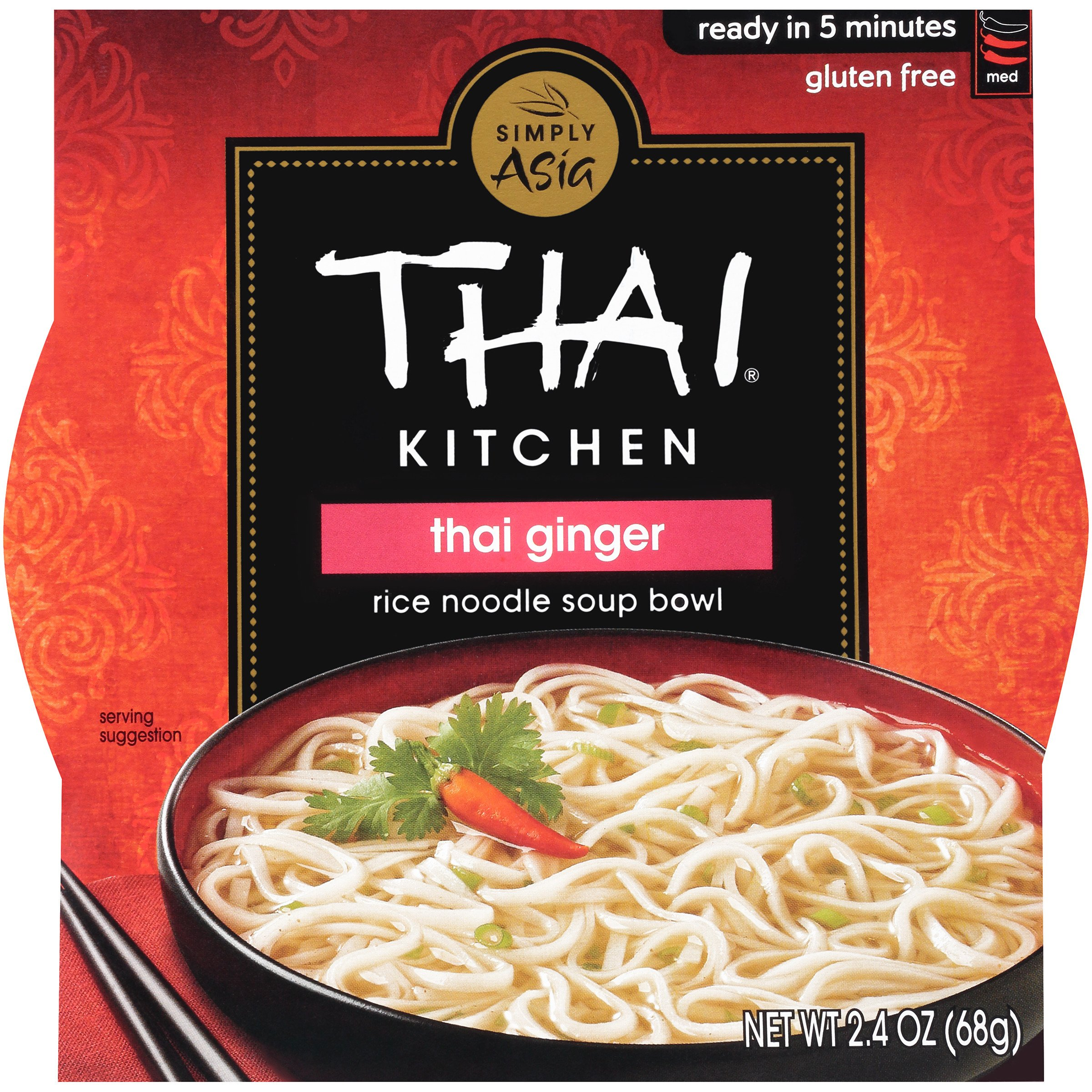 Thai Kitchen Gluten Free Thai Ginger Rice Noodle Soup Bowl 2 4 Oz Case Of 36