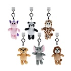 cheap custom cute soft stuffed furry animal doll plush toy keychains