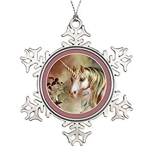 Christmas Snowflake Ornaments Xmas Trees Decorated Mystic Unicorn The Christmas Snowflake Ornament Unicorn