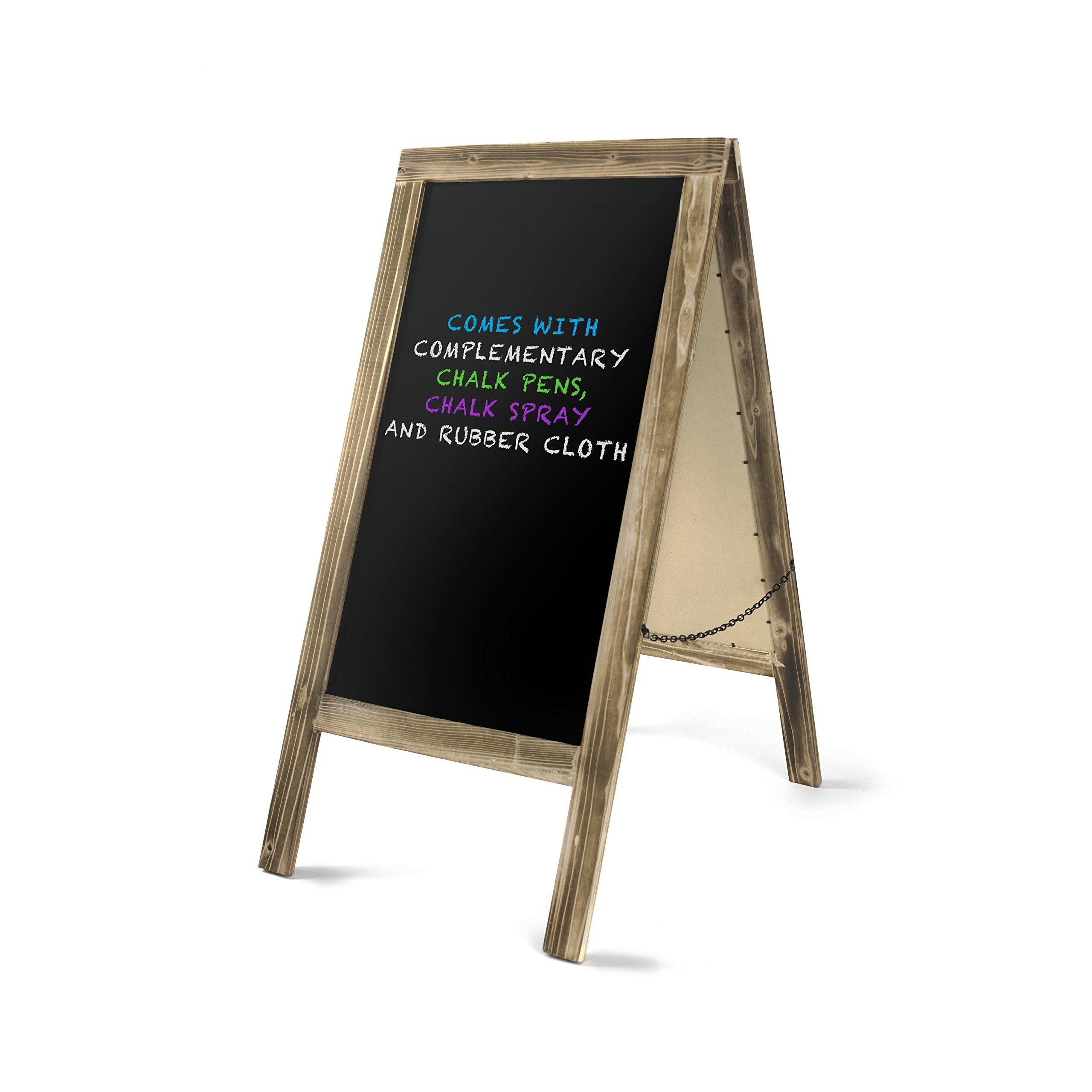 Rustic Wooden A Frame Chalkboard Freestanding Sidewalk