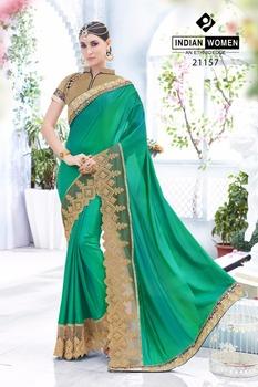 Indian Wanita Rasleela Fancy Saree Sari Saree India Pernikahan Mewah