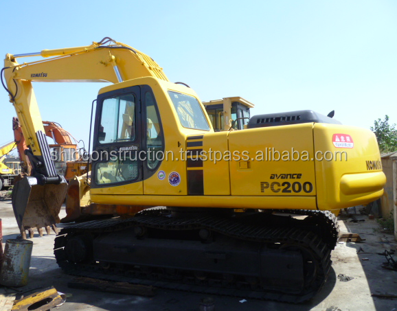 Used Japan made track excavator Komatsu Pc200-6 good quality cheap price excavator hot selling in Malaysia